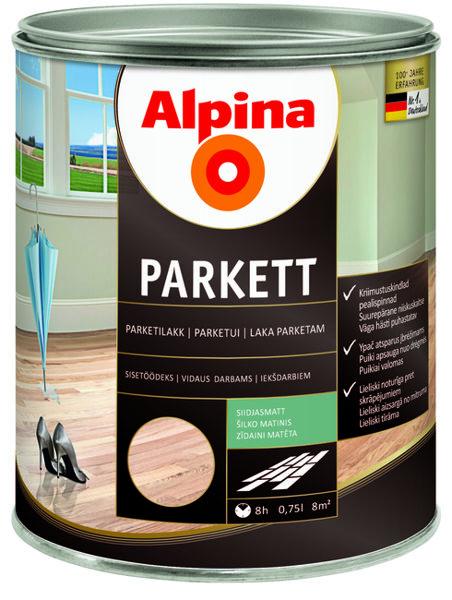 Lakas parketinis šilko matinis Alpina Parkett 0.75L