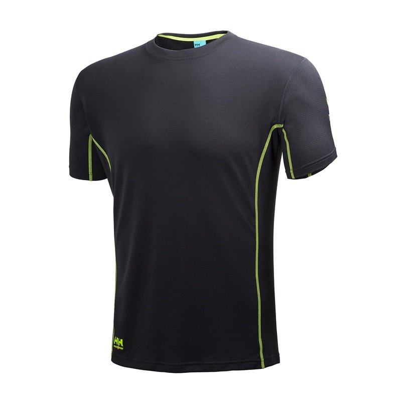 Vyriški marškinėliai Helly Hansen, juodi, M-XXL dydis HELLY_HANSEN