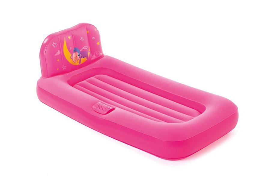 Vaikiškas pripučiamas čiužinys-lova Bestway, rožinis BESTWAY