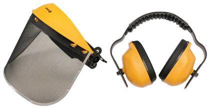 Apsauginis skydelis + apsauginės ausinės Vorel