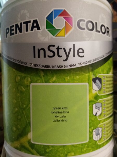 Emulsiniai dažai Pentacolor In Style, šviesiai žali, 2.5 l